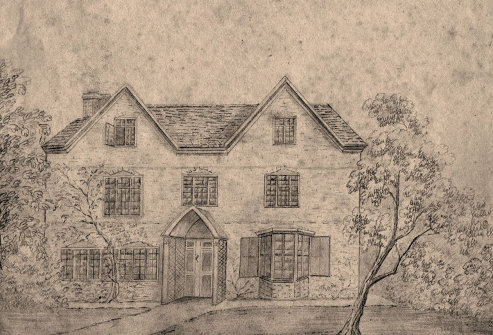 Drawing of SC Vicarage West Front