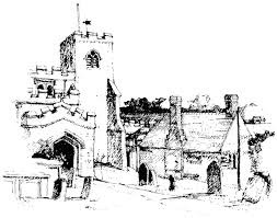 Ewelme Church Sketch